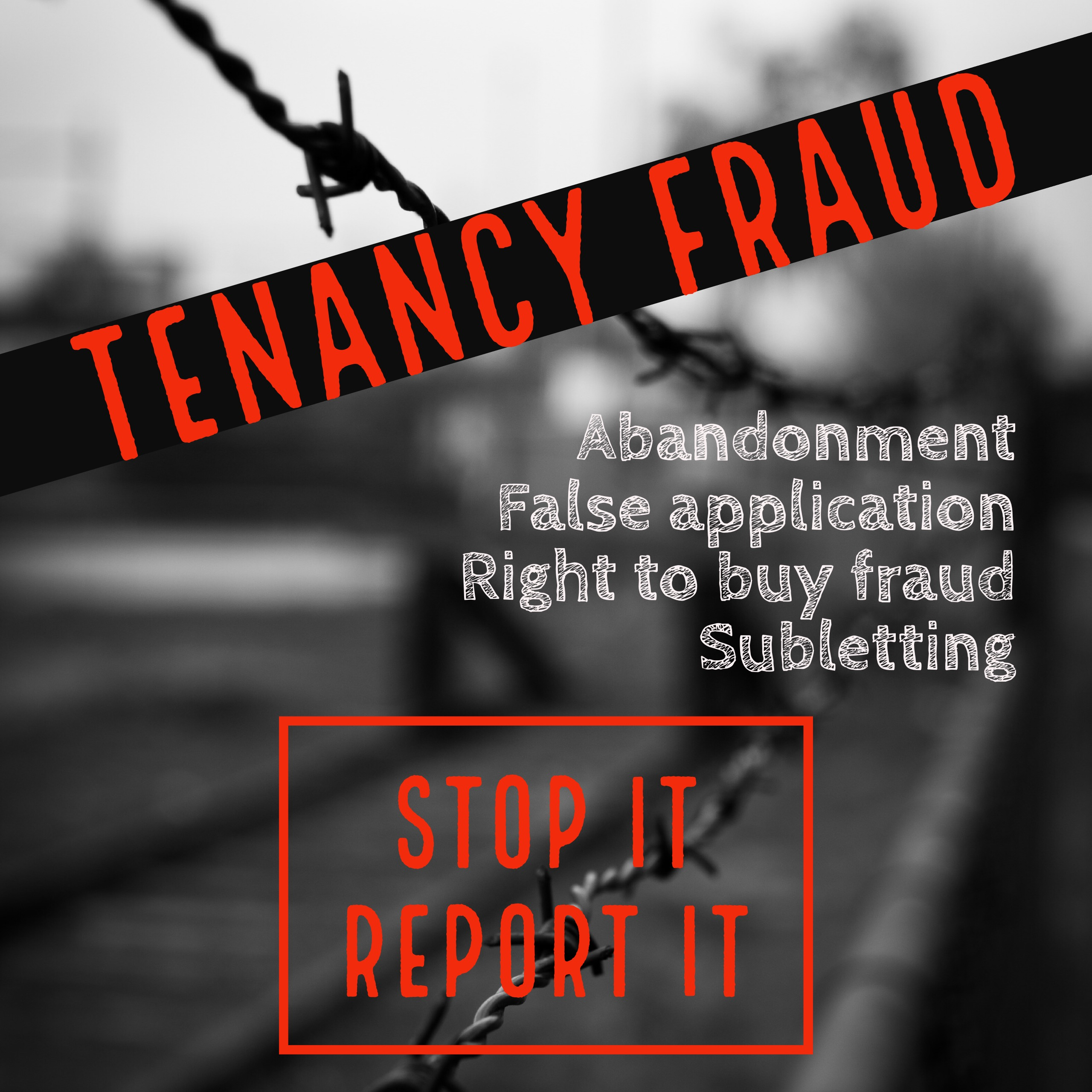 STOP IT, REPORT IT -  NE Tenancy Fraud Week